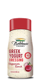 Salad Dressing, Bolthouse Farms® Peppercorn Ranch Greek Yogurt, 12 oz Bottle
