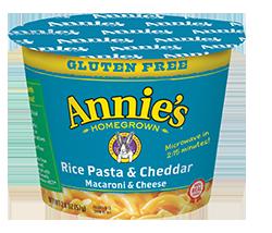 Mac N Cheese Cup, Annie's® Microwavable Gluten Free Rice Pasta & Cheddar (1.62 oz Cup)