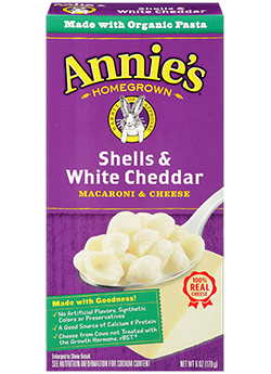Mac N Cheese Pasta, Annie's® Shells & White Cheddar (6 oz Box)