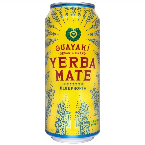 Energy Drink, Guayaki® Yerba Mate, Bluephoria (15.5 oz Can)
