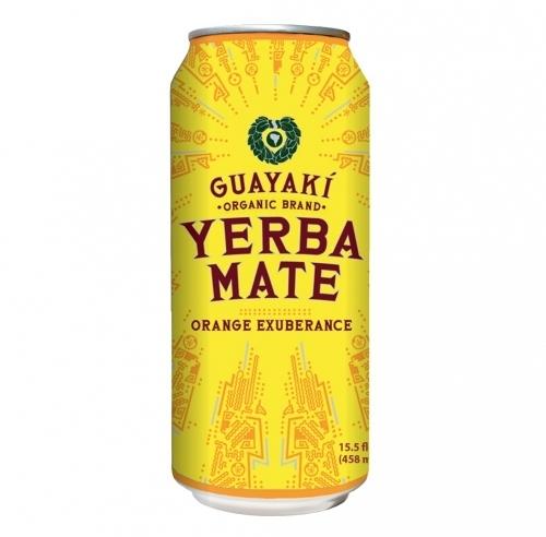 Energy Drink, Guayaki® Yerba Mate, Orange Exuberance (15.5 oz Can)
