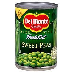 Canned Peas, Del Monte® Fresh Cut Sweet Peas (15 oz Can)