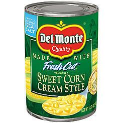 Canned Corn, Del Monte® Fresh Cut Golden Sweet Cream Style Corn (14.75 oz Can)