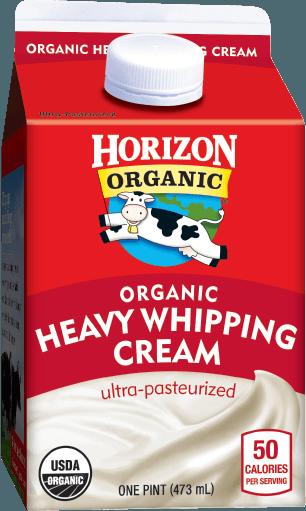 Whipping Cream, Horizon® Organic, Heavy Whipping Cream (1 Pint Carton)
