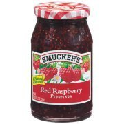 Fruit Spread, Smucker's® Red Raspberry Preserves (18 oz Jar)