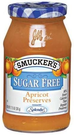 Fruit Spread, Smucker's® Apricot Sugar Free Preserves (12.75 oz Jar)
