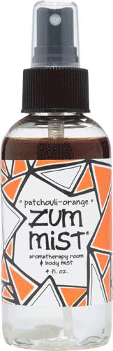 Aromatherapy, Zum Mist® Patchouli Orange Body Mist (4 oz Pump Bottle)