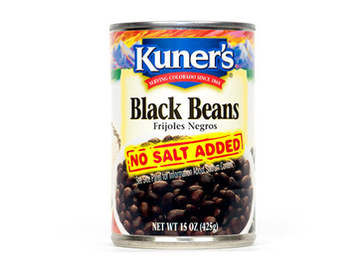 "Canned Beans, Kuner's® ""No Salt Added"" Black Beans (15 oz Can)"