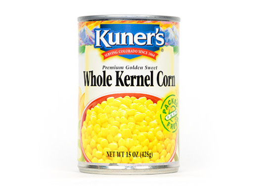 Canned Corn, Kuner's® Whole Kernel Corn (15 oz Can)