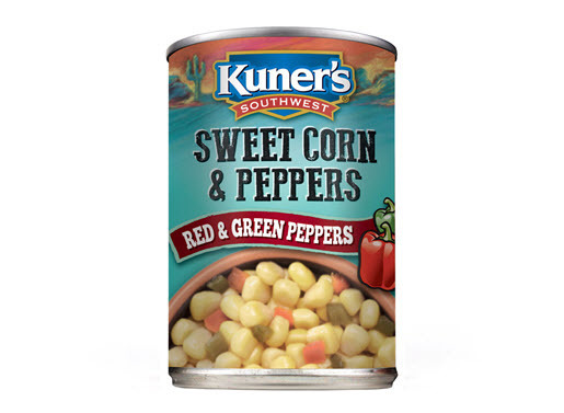 Canned Corn , Kuner's® Southwestern Sweet Corn 'n Peppers (15 oz Can)
