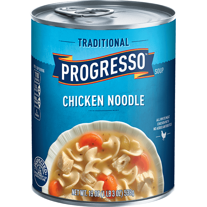 "Canned Soup, Progresso® ""Traditional"" Chicken Noodle Soup (19 oz Can)"