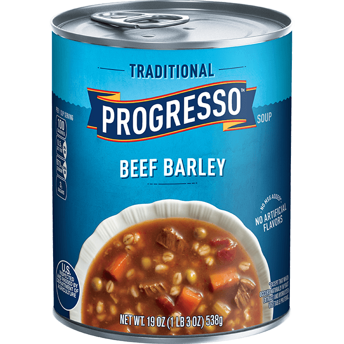 "Canned Soup, Progresso® ""Traditional"" Beef Barley Soup (19 oz Can)"