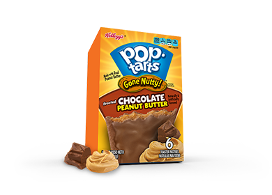 Toaster Pastries, Kellogg's® Pop Tarts® Chocolate Peanut Butter, Frosted, 10.5 oz Box (6 per Box)