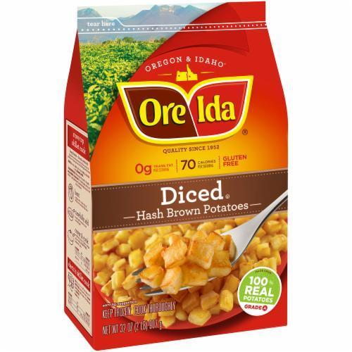 Frozen Potatoes, Ore-Ida® Diced Hash Browns (32 oz Bag)