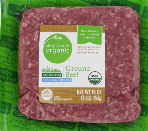 Beef, Simple Truth™ Ground Beef 90% Lean (16 oz Tray)