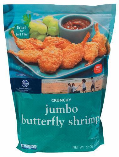 Frozen Shrimp, Kroger® Crunchy Jumbo Butterfly Shrimp ( 2 Pound = 32 oz Bag)