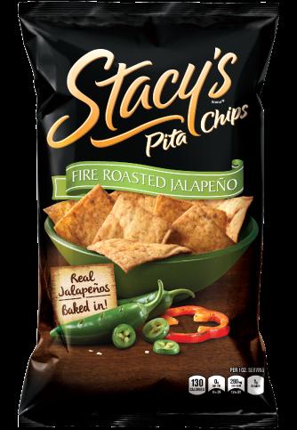 Pita Chips, Stacy's® Simply Naked® Fire Roasted Jalapeño Pita Chips (7.33 oz Bag)
