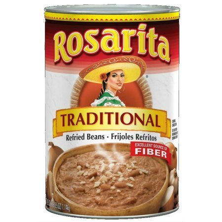 "Canned Refried Beans, Rosarita® ""Traditional"" Refried Pinto Beans (40.5 oz Can)"