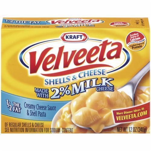 Mac N Cheese Dinner, Kraft® Velveeta® Shells 'N' Cheese with 2% Milk (12 oz Box)