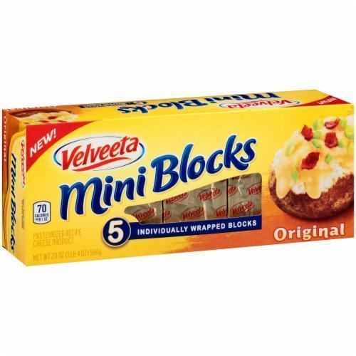 Cheese, Kraft® Velveeta® Mini Blocks® Original Cheese (16 oz Box)