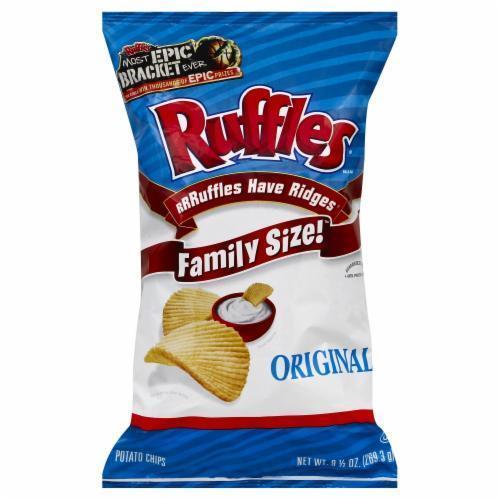 "Potato Chips, Ruffles® ""Family Size"" Original Potato Chips (9 oz Bag)"