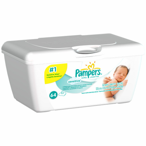 Baby Wipes, Pampers® Sensitive Baby Wipes (64 Count Tub)