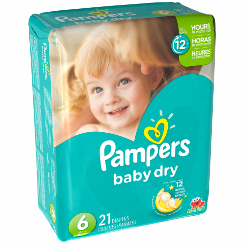 Baby Diapers, Pampers® Size 6 Baby Dry Diapers (21 Count Bag)