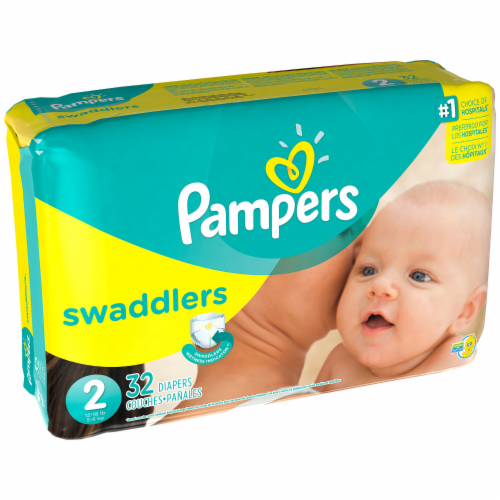 Baby Diapers, Pampers® Size 2 Swaddlers Baby Diapers (32 Count Bag)