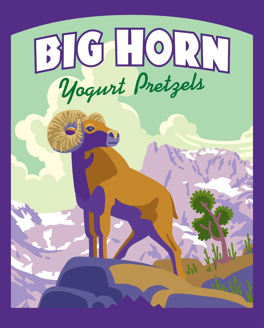 Snack, Rocky Mountain Treats® Big Horn™ Yogurt Pretzels (4.7 oz Bag)