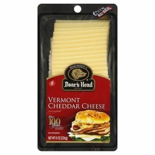 Deli Cheese, Boar's Head® Sliced Vermont White Cheddar Cheese (8 oz Bag)