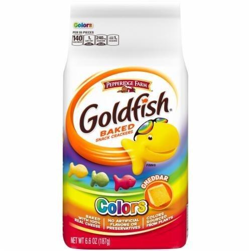Goldfish Crackers, Pepperidge Farm® Goldfish® Colors Cheddar Crackers (6.6 oz Bag)