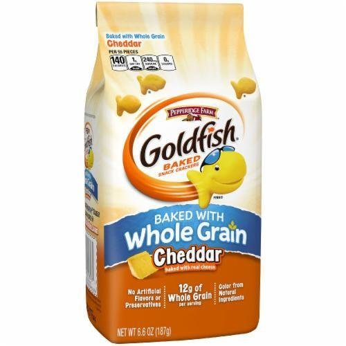 Goldfish Crackers, Pepperidge Farm® Goldfish® Whole Grain Cheddar Crackers (6.6 oz Bag)