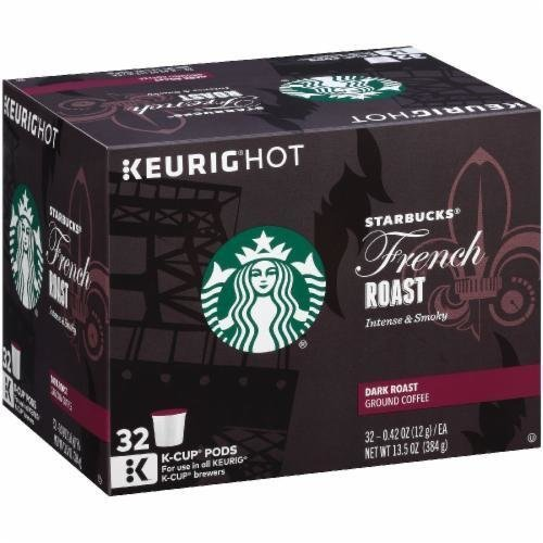 K Cup Coffee, Starbuck's® French Roast™ K Cup Coffee (Box of 32 Single K Cups)