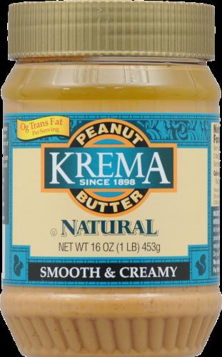Peanut Butter, Krema® Natural Creamy Peanut Butter (16 oz Jar)