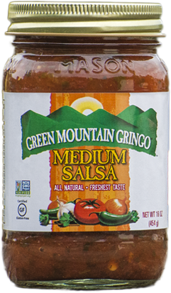 Salsa, Green Mountain Gringo® Medium Salsa (16 oz Jar)