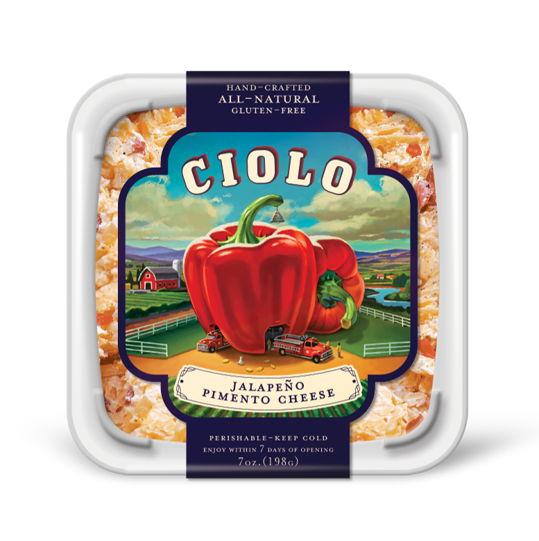 Cheese Spread, Ciolo® Jalapeño Pimento Cheese Spread (7 oz Tub)