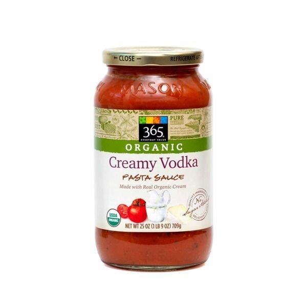 Pasta Sauce, 365® Organic Creamy Vodka Pasta Sauce (25 oz Jar)
