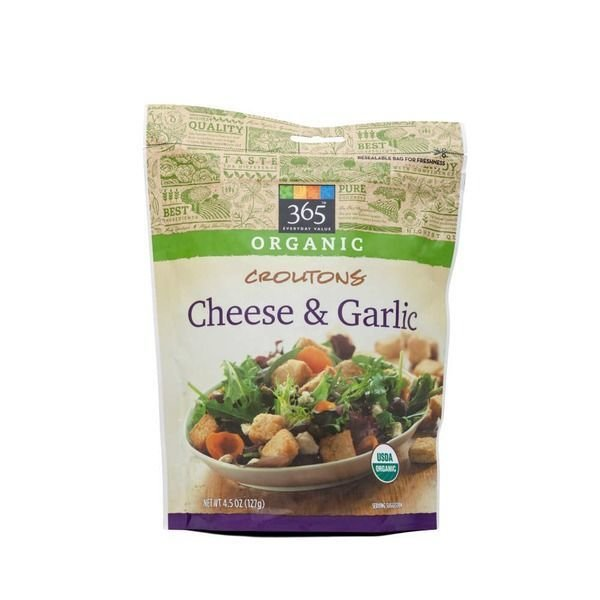 Croutons, 365® Organic Cheese & Garlic Croutons (4.5 oz Bag)