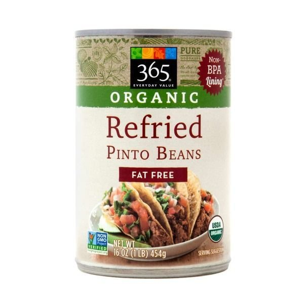 """Canned Refried Beans, 365® Organic """"Fat Free"""" Refried Pinto Beans (16 oz Can)"""