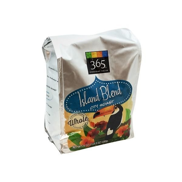 "Bean Coffee, 365® ""Island Blend"" City Roast Whole Bean Coffee (24 oz Bag)"