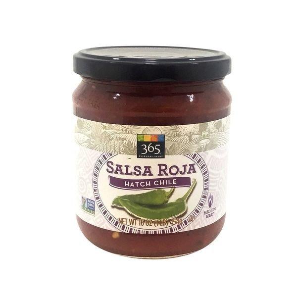 Salsa, 365® Medium Hatch Chile Salsa Roja (16 oz Jar)