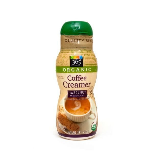 Coffee Creamer, 365® Organic Hazelnut Coffee Creamer (16 oz Bottle)