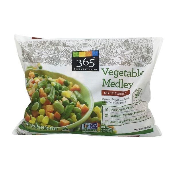 Frozen Vegetables, 365® No Salt Added Mixed Vegetables (32 oz Bag)