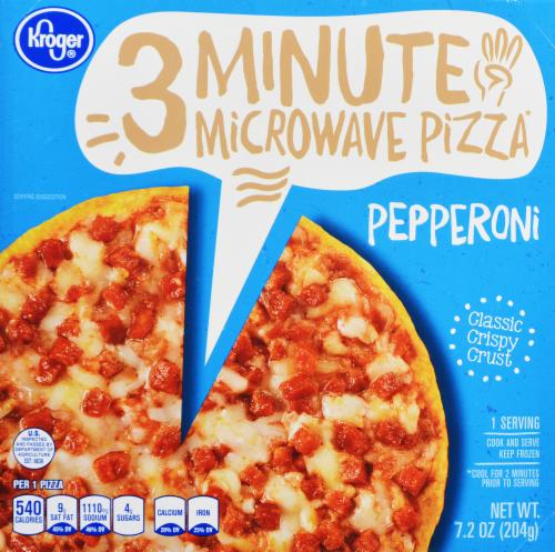 Frozen Pizza, Kroger® 3 Minute Microwave™ Pepperoni Pizza (7.2 oz Box)