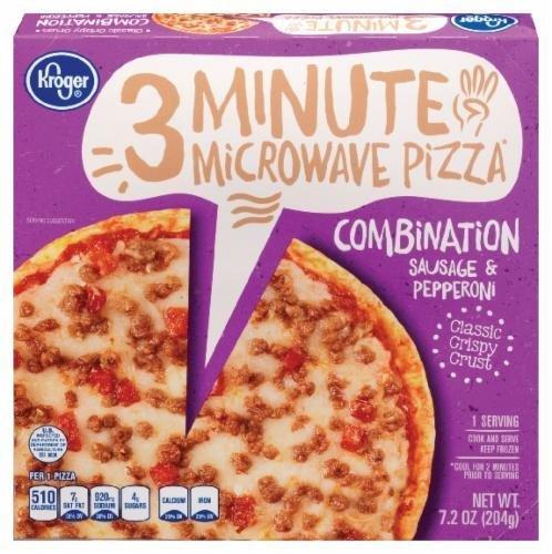 Frozen Pizza, Kroger® 3 Minute Microwave™ Combination Pizza (7.2 oz Box)