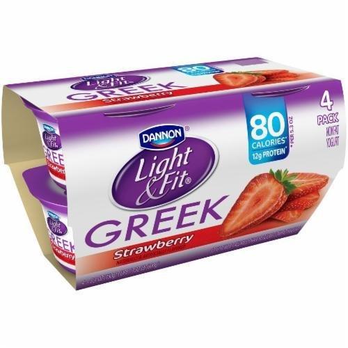 Yogurt, Dannon® Light & Fit® Greek Nonfat Strawberry Yogurt (4 Pack, 5.3 oz Cup)