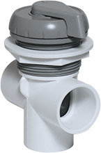 Waterway Valves Notched 1″ Vertical – 2-Port Deluxe 180° Shut Off Valves