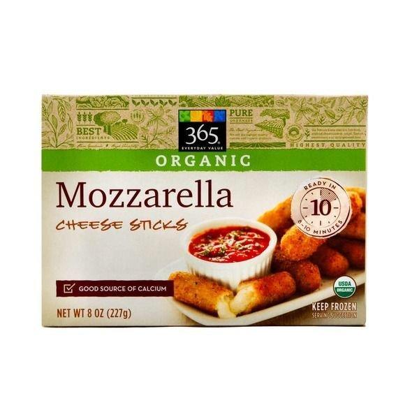 Cheese Sticks, 365® Organic Mozzarella Cheese Sticks (8 oz Box)