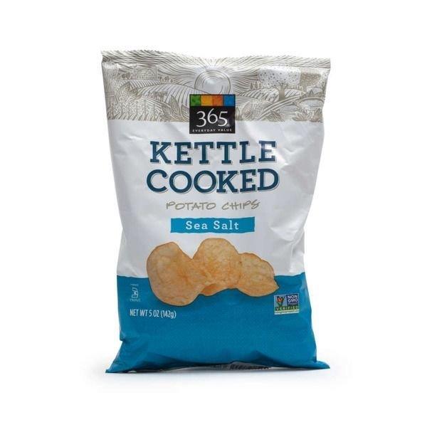 Potato Chips, 365® Sea Salt Kettle Cooked Potato Chips (5 oz Bag)