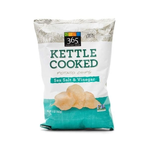 Potato Chips, 365® Sea Salt & Vinegar Kettle Cooked Potato Chips (5 oz Bag)
